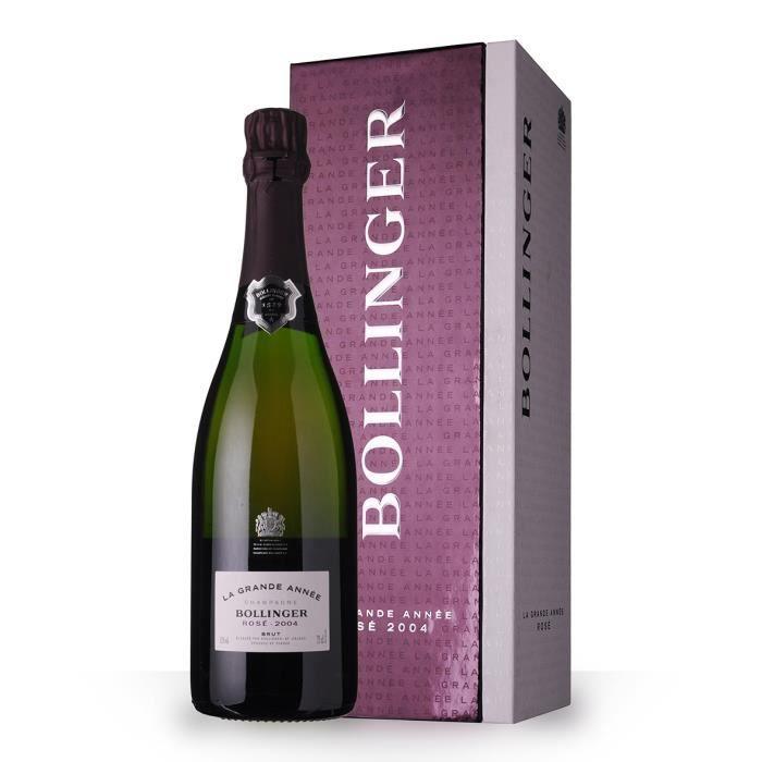 Bollinger La Grande Année 2004 Brut Rosé 75cl - Coffret - Champagne