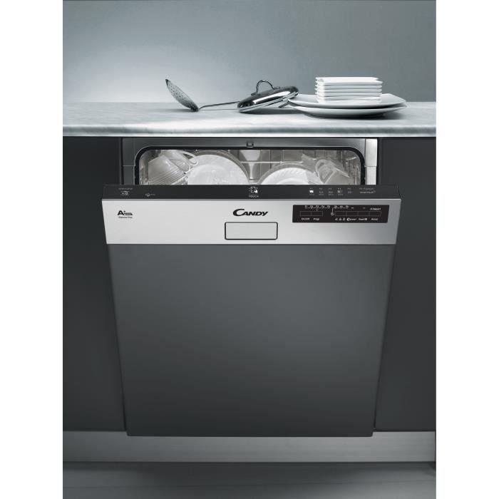 Lave Vaisselle CANDY CDS2LS54X - Encastrable - 60 cm Largeur - 15 couverts - A ++ - 45 db - Inox