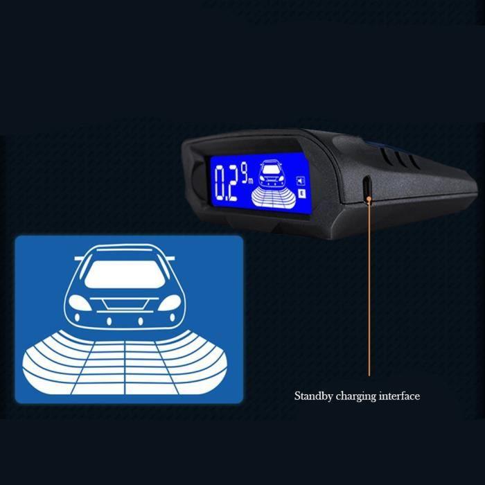 LESHP® Radar de recul inversé sans fil solaire