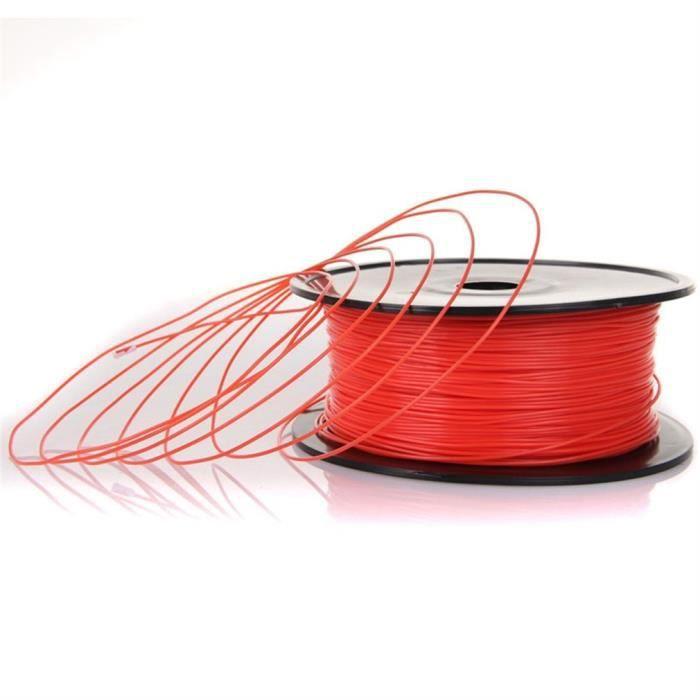 Filament Pla 3D 1.75mm 1kg rouge d'imprimante d'impression de haute résistance