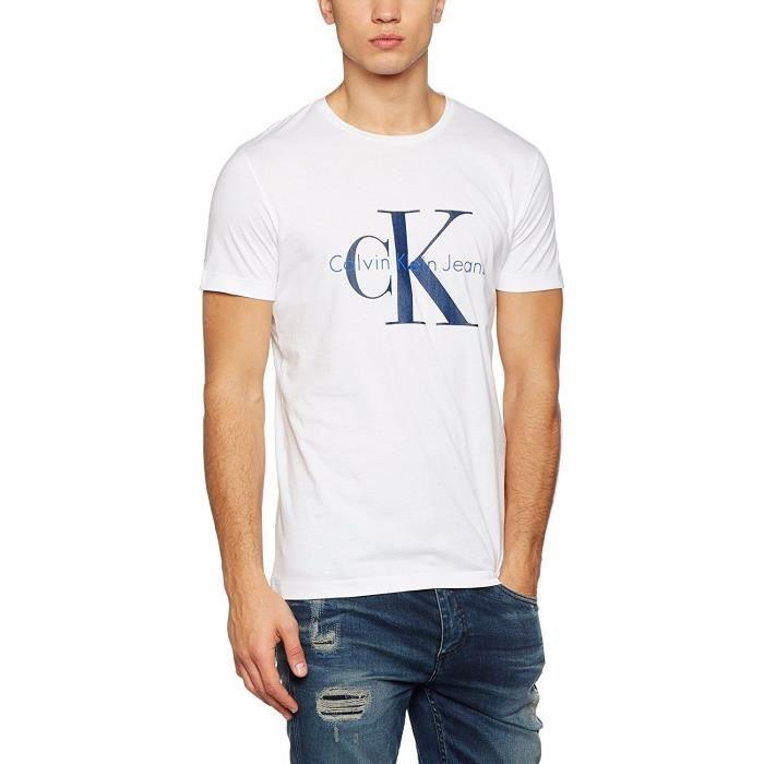 CALVIN KLEIN - T-shirt pour Homme J30J301237 (blanc - L)