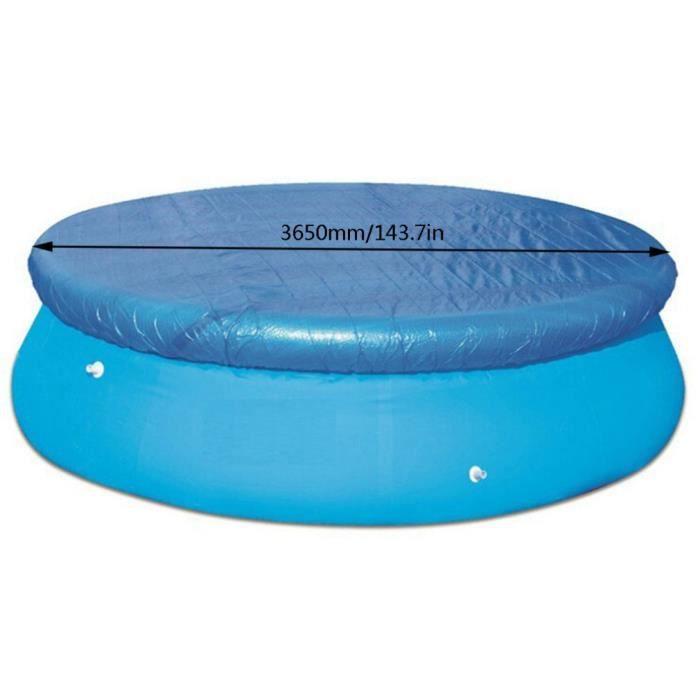 Tapis de sol rond pour piscine grande couverture 365cm