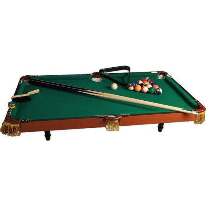 billard de table bois luxe complet ( 16 boules et 2 queues)-91 x 51 cm TU Multicolore