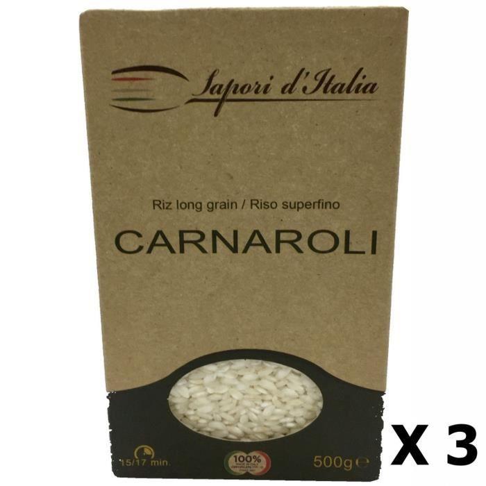 Lot 3x Riz long carnaroli - Italie - Sapori d'Italia - boîte 500g