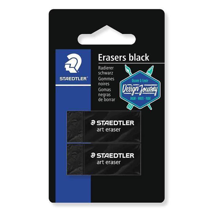 rasoplast 526 B Design Journey - Blister 2 gommes noires sans latex 526 B30