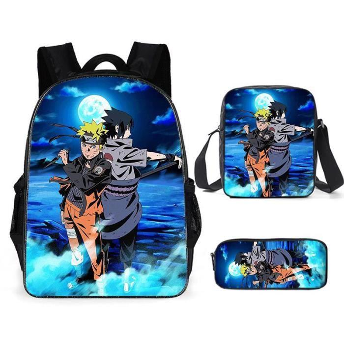 Naruto D'école Cool Garçons Filles Anime Sac À Dos Scolaire Naruto Enfants Backpack A12
