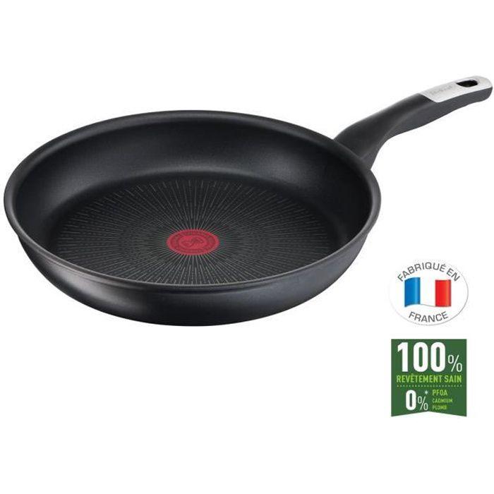 TEFAL G2550702 Poêle 30 cm UNLIMITED Tous feux dont induction - Fabrication française - Noir