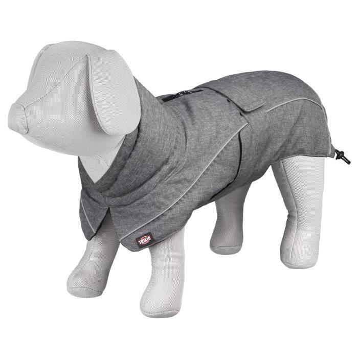 TRIXIE Manteau Prime XS: 33 cm gris pour chien