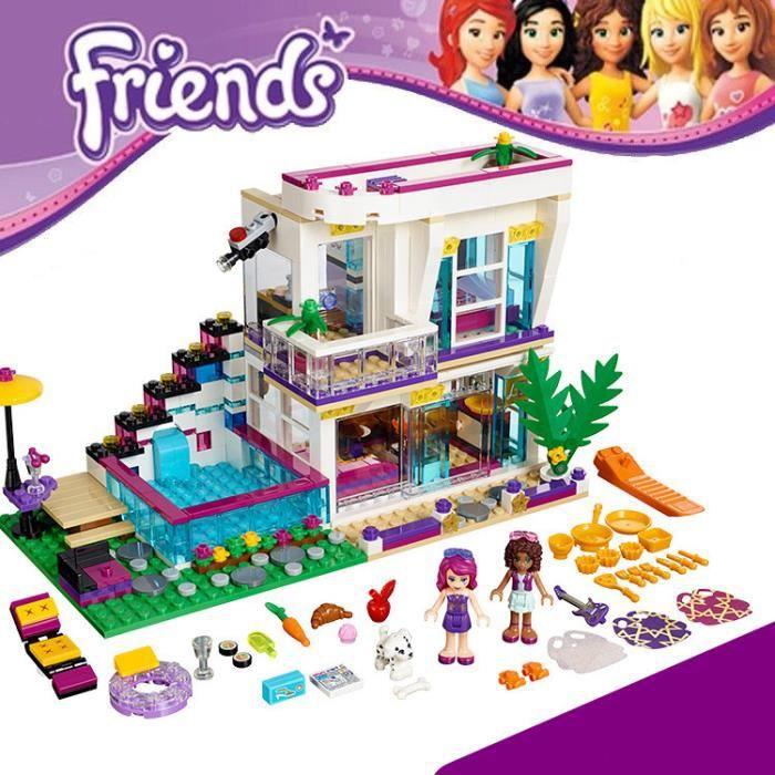 Nouveau 619 pcs Amis Série de Livi Pop Star Maison Building Blocks Andrea mini-p