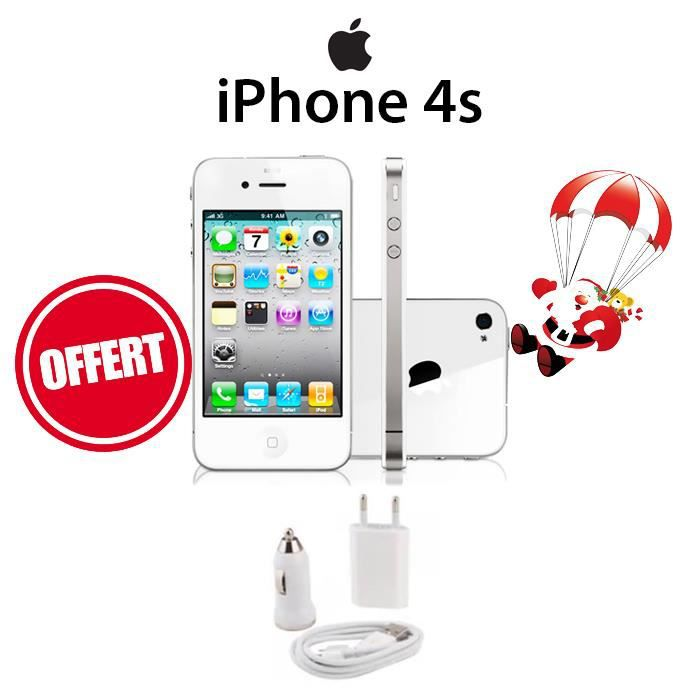 apple iphone 4s 16 go blanc achat smartphone pas cher. Black Bedroom Furniture Sets. Home Design Ideas