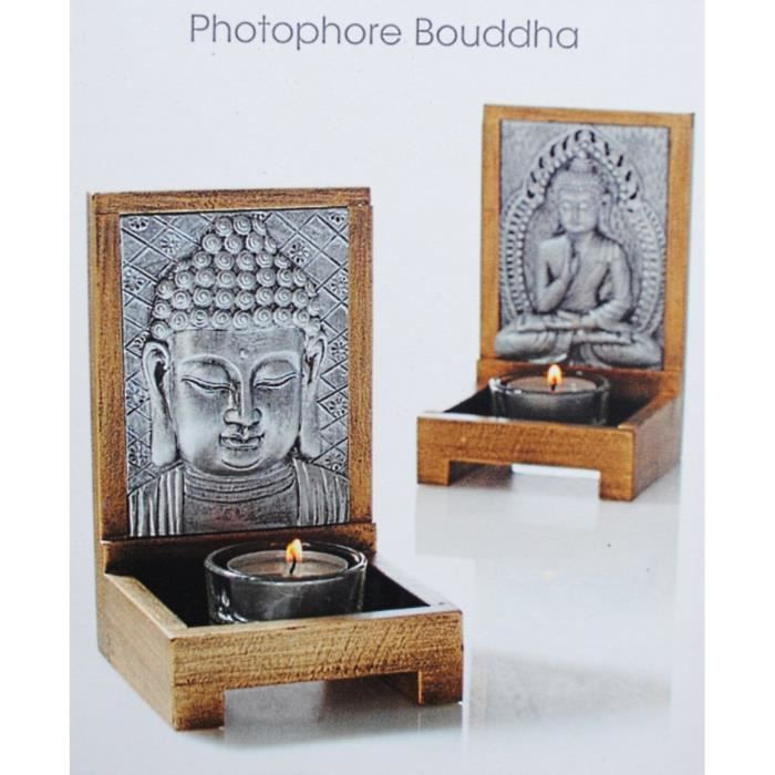 photophore bouddha bougie sable galet deco achat vente photophore lanterne verre cdiscount. Black Bedroom Furniture Sets. Home Design Ideas