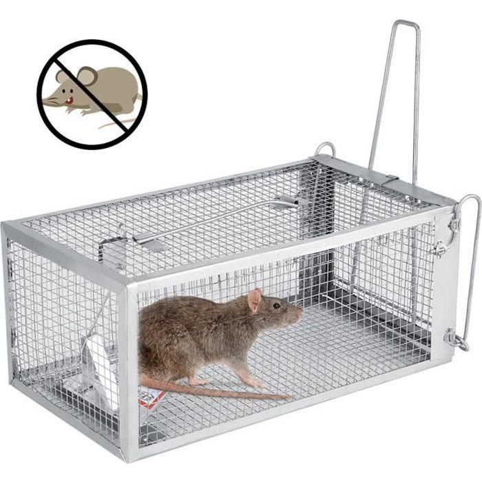 arthomer Pi/ège /à Rats Professionnel Cage Mousetrap Piege Souris Antirouille Durable Les Mulots et Autres Rongeurs de Taille Similaire 27 X 14 X 12cm