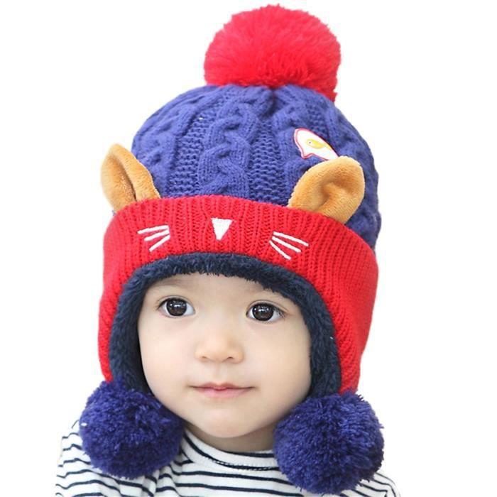 Super MiVogue Bonnet Pour Bébé Hiver Cache Oreille Petit Enfant Garçon YB-08