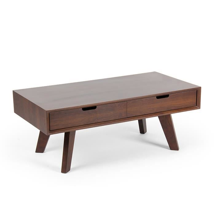 Table basse de salon bois vitoria achat vente table for Table basse hauteur 45 cm