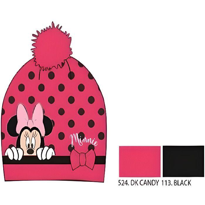 BONNET - CAGOULE Mgs33 Bonnet Enfant Fille / hiver Minnie Mouse Ros