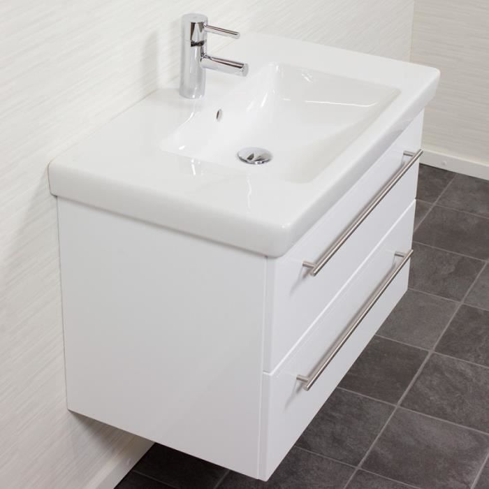 Villeroy boch subway 2 0 80 cm blanc brillant achat for Meuble subway villeroy et boch