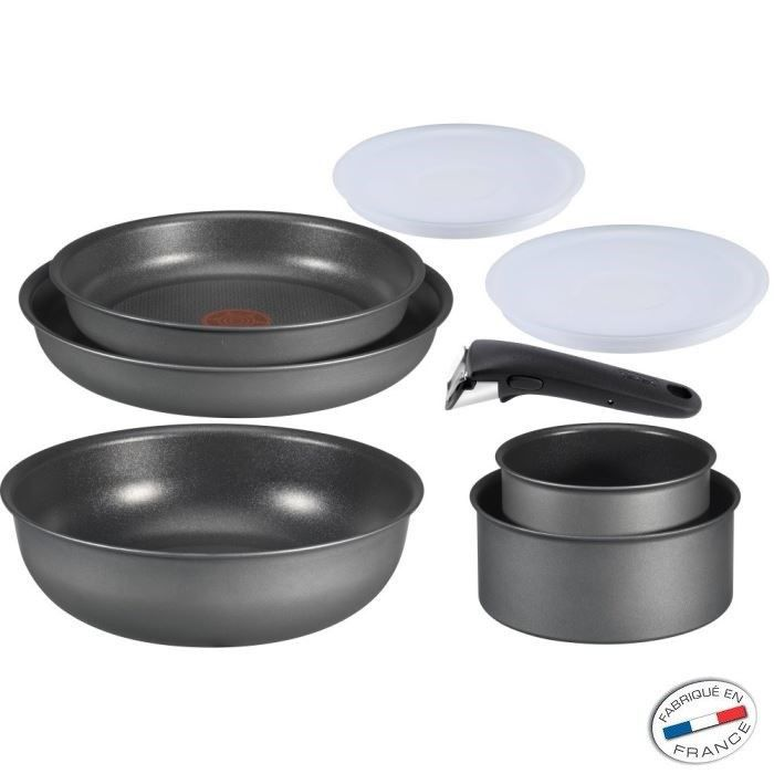 Tefal ingenio 5 induction set 8 pi ces achat vente - Batterie cuisine tefal ingenio induction ...