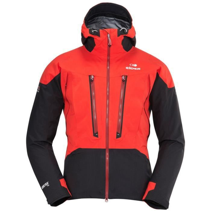 veste eider conquest gore tex pro rouge rouge achat. Black Bedroom Furniture Sets. Home Design Ideas