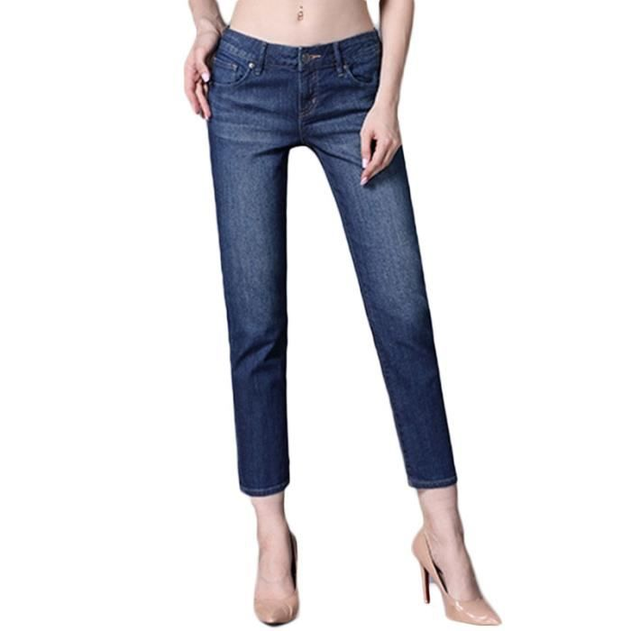 Effect Delave Bleu Coupe Jean Moyenne Droite Taille 8 7 Femme wfzxz80Rq