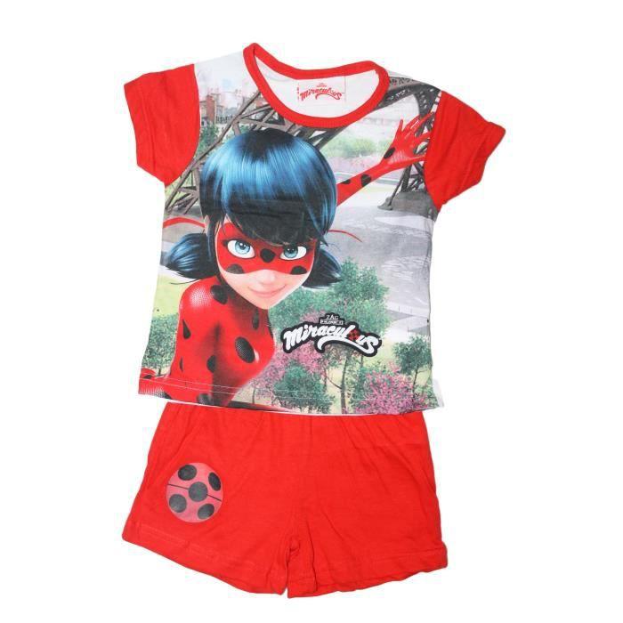 beau ensemble miraculous ladybug rouge
