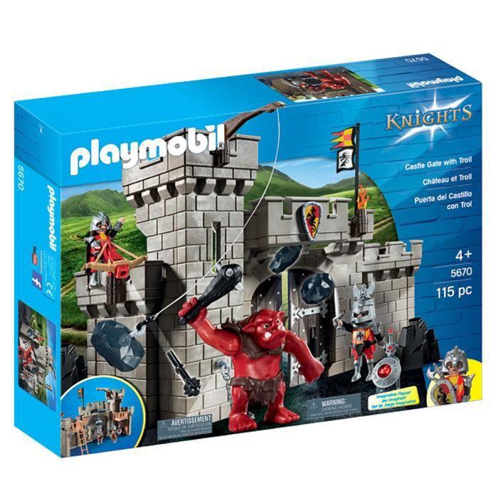 Photo de playmobil-5670-citadelle-des-chevaliers-avec-troll