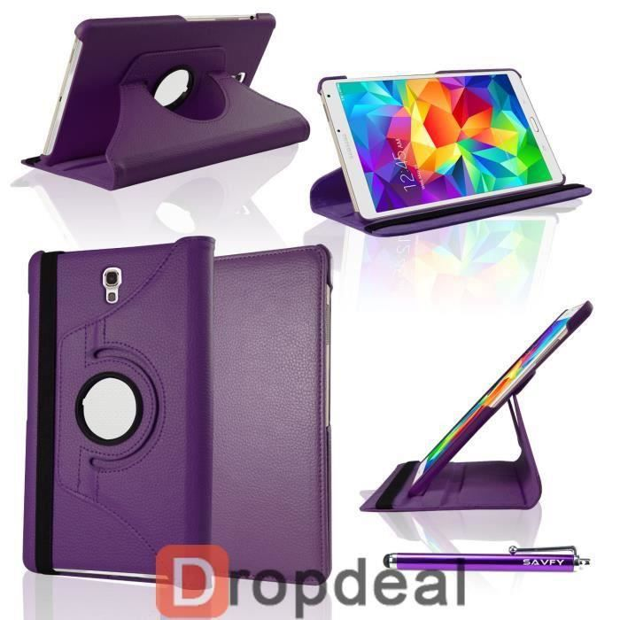 housse coque 360 samsung galaxy tab pro 8 4 violet prix. Black Bedroom Furniture Sets. Home Design Ideas
