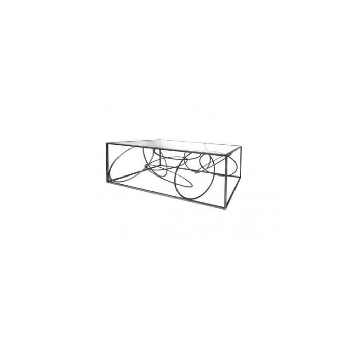 Table Basse Design Cercle Metal Art De Fer