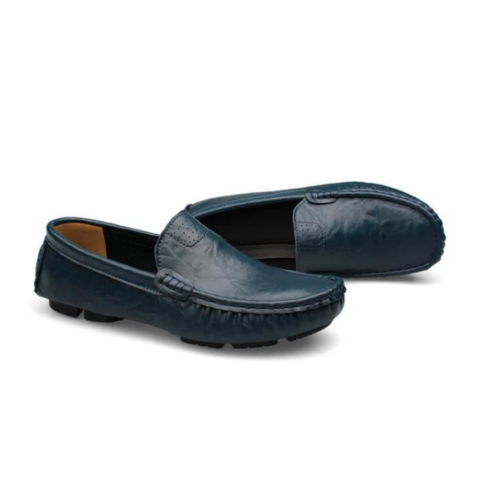 Mocassin Hommes Mode Chaussures Grande Taille Chaussures BZH-XZ73Bleu46