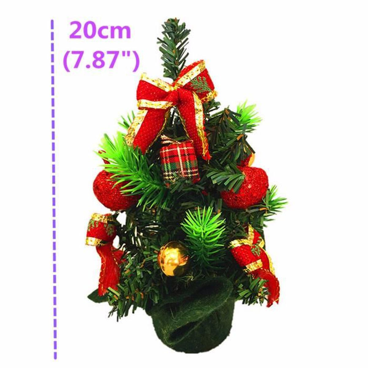 Mignon 20cm mini sapin de n el d coration cadeau d cor ornement table maison - Mini sapin de noel decore ...