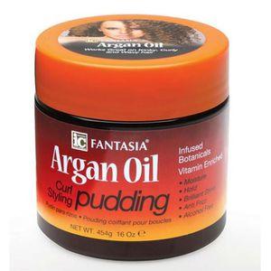 CIRE - GEL COIFFANT Fantasia Huile d'Argan Curl Pudding Coiffant 454g