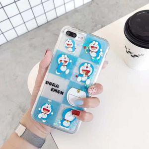 COQUE - BUMPER Coque, iPhone7, Style 3 Dessin animé Doraemon Liqu