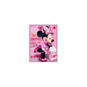 COUVERTURE - PLAID Plaid Disney Minnie sweet rose.