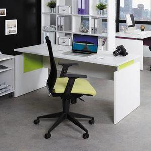 BUREAU  Bureau professionnel droit 160x80 cm coloris blanc
