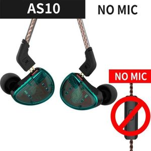 CASQUE - ÉCOUTEURS KZ AS10 5BA HiFi stéréo In-Ear haute résolution éc