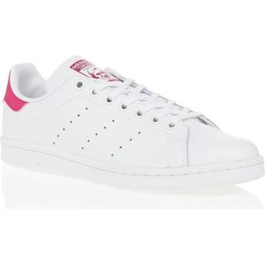 BASKET MULTISPORT ADIDAS Baskets Stan Smith - Junior - Blanc et rose