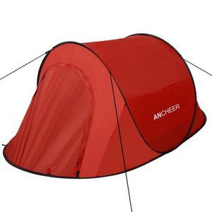 TENTE DE CAMPING ANCHEER Tente de Camping Pop-Up automatique rouge