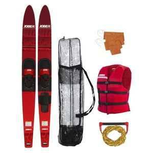 SKI NAUTIQUE - CORDE JOBE Allegre Combo Pack Skis - Rouge