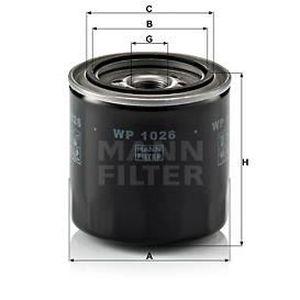 Mann hummel oe qualité remplacement moteur filtre à huile wp 1026