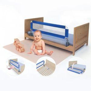 BARRIÈRE DE LIT BÉBÉ 1.5M Barrière De Lit Portable Bébé/Enfant - Bleu