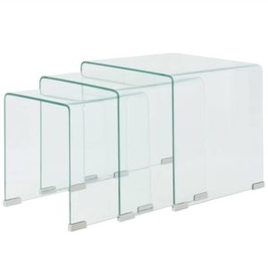 Table Gigogne Transparente