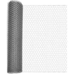 CLÔTURE - GRILLAGE Maille hexagonale galvanisée 25x25mm rlx 0,5x10m