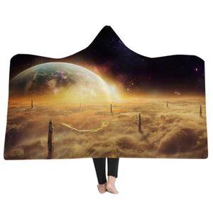 COUVERTURE - PLAID Plaid couverture polaire étoiles 150*200cm 3D couv