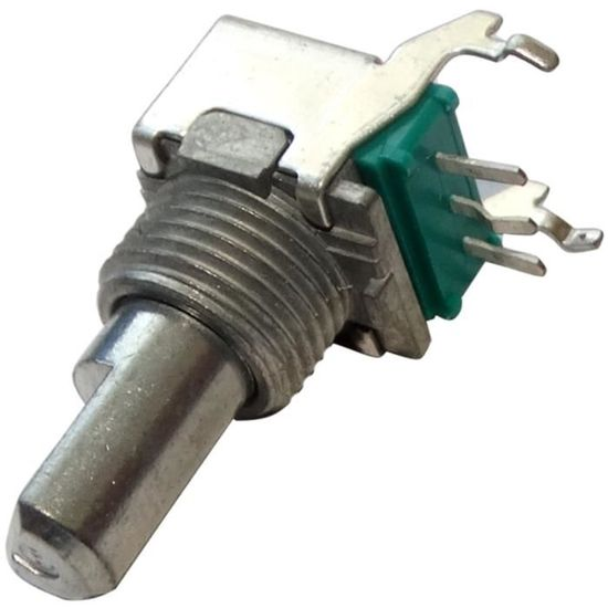Potentiomètre rotatif avec interrupteur 500kΩ axe en D 20.5x17.2x17mm