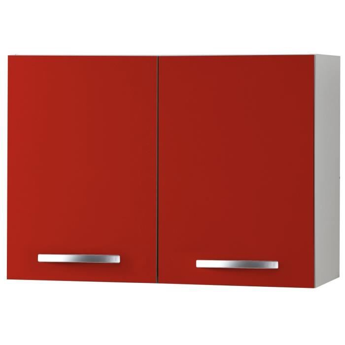 harmony caisson haut de cuisine 80cm rouge achat. Black Bedroom Furniture Sets. Home Design Ideas