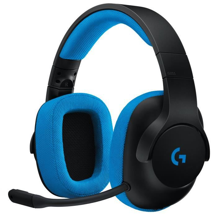 LOGITECH Micro Casque Gamer G233 Prodigy - Pour PC, PS4, Xbox One et Nintendo Switch