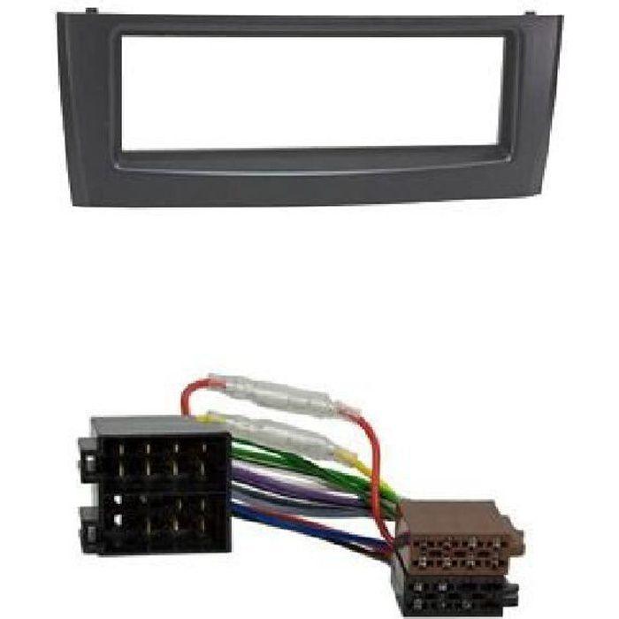 Kit Adaptateur Autoradio 1DIN noir Fiat Grande Punto ap04/ Linea ap06 + ISO