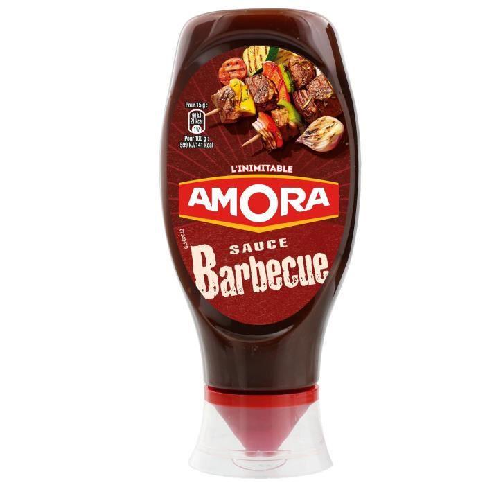AMORA Sauce Barbecue Flacon Souple - 490 g