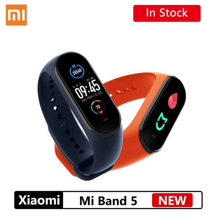 Xiaomi Mi Band 5 Bracelet intelligent Bluetooth 5.0 étanche AMOLED écran fréquence cardiaque Fitness Tracker mi band 5 xiaomi
