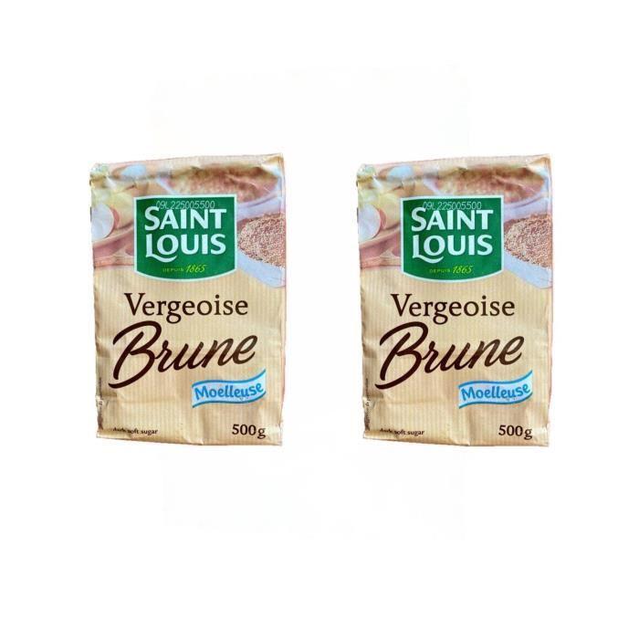 Lot 2x Sucre vergeoise brune - Saint Louis - sachet 500g