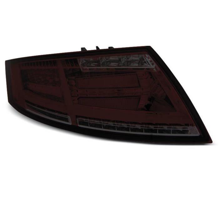 Paire de feux arriere Audi TT 06-14 FULL LED rouge fume